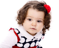 Little girl with curly hair Royalty Free Stock Photo