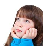Little girl dreaming Stock Photos