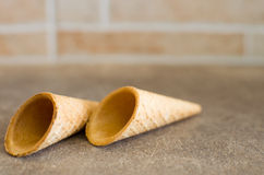 Little ice cream waffle cones  (for decoration) Stock Image