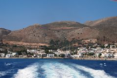 Livadia harbour, Tilos island Royalty Free Stock Image