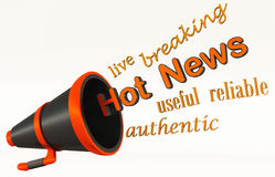 Live hot news Royalty Free Stock Photography