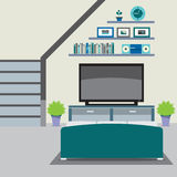 Living Room Decorated. Royalty Free Stock Image