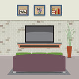 Living Room Decorated. Royalty Free Stock Photo