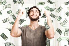 Lluvia del dinero Fotos de archivo libres de regalías