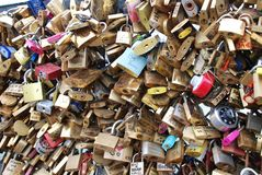 Locked up Love in Paris Royalty Free Stock Photos