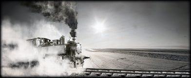 Locomotiva di vapore Fotografie Stock