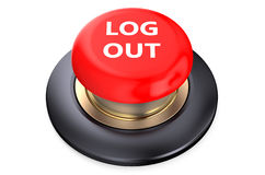Log out Red button Royalty Free Stock Photography