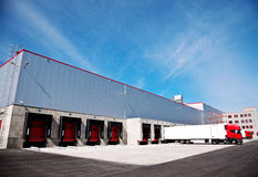 Logistics building truck Stock Image