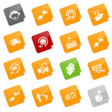 Logistics icons - sticky series Stock Image