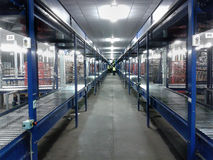 Logistics warehouse conveyor belt Stock Photo