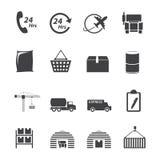 Logistischer Ikonensatz Lizenzfreie Stockbilder