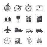 Logistischer Ikonensatz Lizenzfreies Stockbild