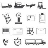 Logistischer Ikonensatz Stockbilder