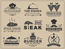 Logo insignia design for Restaurant, Steak house Royalty Free Stock Photo
