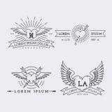 Logos d'ensemble réglés Image stock