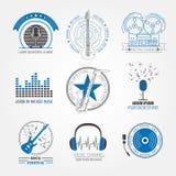 Logos et insignes d'instruments de musique Calibre graphique Images libres de droits
