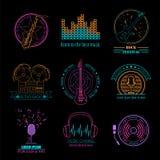 Logos et insignes d'instruments de musique Calibre graphique Photos libres de droits