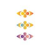 Logotipo abstracto del diseño floral Fotografía de archivo