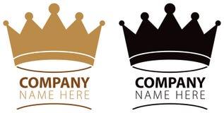 Logotipo de la corona Imágenes de archivo libres de regalías