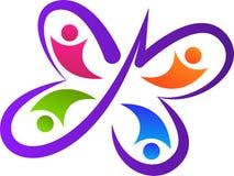 Logotipo del equipo de la mariposa Imagen de archivo libre de regalías