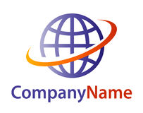 Logotipo do globo Foto de Stock Royalty Free