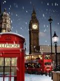 Londen bij Kerstmis Stock Afbeeldingen