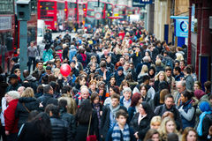 London at rush hour - people going to work Royalty Free Stock Photography