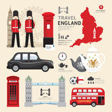 London,United Kingdom Flat Icons Design Travel Concept. Stock Image