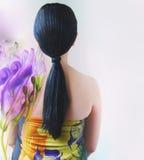 Long black hair  Royalty Free Stock Photography