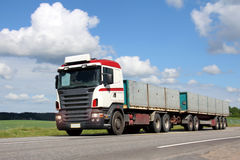 Long Haulage Truck on the Road Royalty Free Stock Images