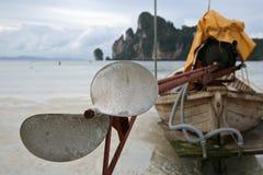 Longtail boat detail island beach Royalty Free Stock Photo