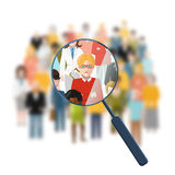 Looking for a person in the crowd Royalty Free Stock Photo