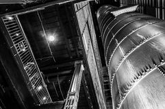 Looking up at interesting architecture in the Powerplant, Baltim Stock Photography
