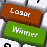 Loser Winner Keys Shows Risk And Chance Royalty Free Stock Photo