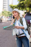Lost tourist Stock Photography