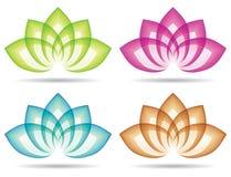 Lotosowy logo Zdjęcie Stock