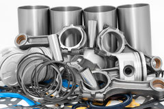 Lots of auto spare parts Stock Photography