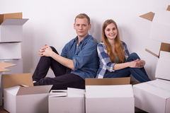 Lots of stuff in boxes Royalty Free Stock Photos
