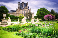 Louvre palace and Tuileries garden. Paris, France Royalty Free Stock Image