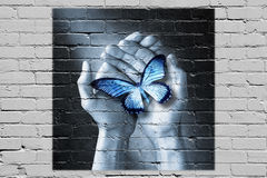Love Butterfly Graffiti Care Psychology Royalty Free Stock Image
