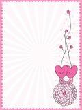 Love frame decoration Stock Photo