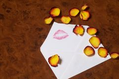 Love letter - Liebesbrief Stock Photo