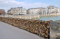 Love Locked in Paris Royalty Free Stock Photos