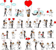 Lovely wedding the bride and groom,vector Stock Image