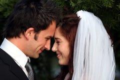 Lovely Wedding Couple Stock Photo