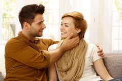 Loving couple embracing Royalty Free Stock Photography