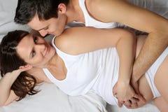 Loving pregnant couple Royalty Free Stock Image