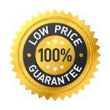 100% low price guarantee sticker Stock Photography