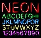 Luce al neon della fonte Fotografia Stock