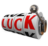 Luck Slot Wheels Gambling Fate Chance Word Spin to Win Royalty Free Stock Image